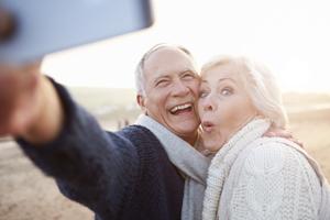 Smiling Couple Dentures - Marcos Ortega DDS Hillcrest San Diego