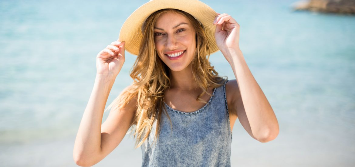 Porcelain Dental Veneers Woman On Beach - Marcos Ortega DDS Hillcrest San Diego